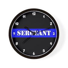 Police Sergeant Thin Blue Line Wall Clock