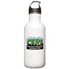 CUSTOM CERT LOGO Water Bottle