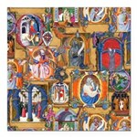 Medieval Illuminations Square Car Magnet 3