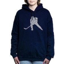 Hockey Player Typography Hooded Sweatshirt