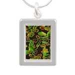 Lovely Germs - Silver Portrait Necklace