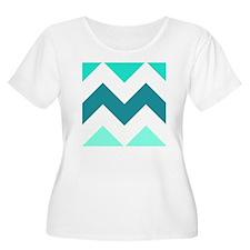 Teal Chevron  T-Shirt