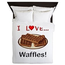 I Love Waffles Queen Duvet