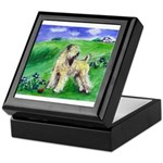 SOFT COATED WHEATEN TERRIER in field Keepsake Box