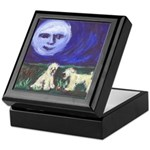 Moon w Wheatens Keepsake Box