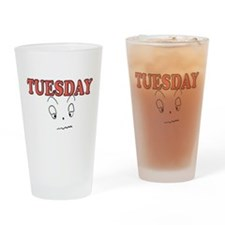 Tuesday funny face Drinking Glass