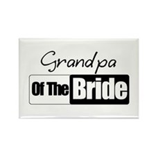 Grandpa of the Bride Rectangle Magnet (100 pack)