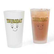Thursday funny face Drinking Glass