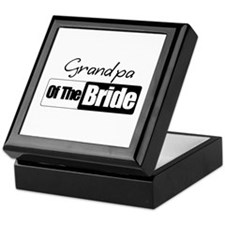 Grandpa of the Bride Keepsake Box
