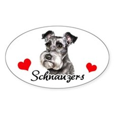 Love Schnauzer Decal