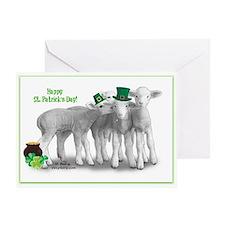 St. Patricks Day Lambs Greeting Cards