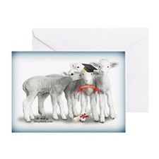 Graduation Lambs Greeting Card