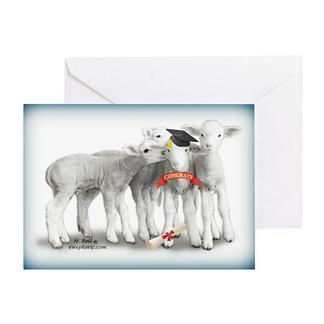 Graduation Lambs Greeting Card