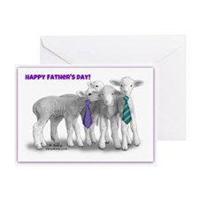 Fathers Day Lambs Greeting Card