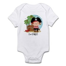 Monkey Pirate 1st Birthday Infant Bodysuit