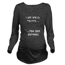 ninjatechnie.png Long Sleeve Maternity T-Shirt