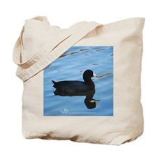 Pale Blue Coot Tote Bag