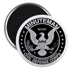 "Minuteman Civil Defense 2.25"" Magnet (10 pack)"