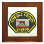 Sonoma County Sheriff Framed Tile