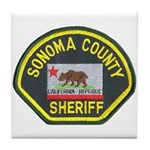 Sonoma County Sheriff Tile Coaster
