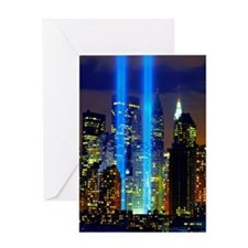 911 Twin Towers Greeting Card