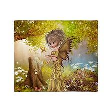 Little Fall Fairy Throw Blanket