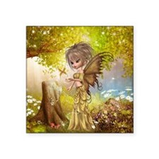 "Little Fall Fairy Square Sticker 3"" x 3"""