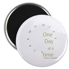 """One Day at a Time 2.25"""" Magnet (100 pack)"""