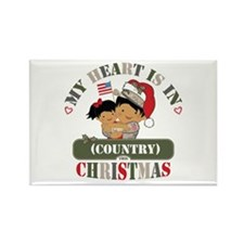 Christmas Soldier Dad/Mom Rectangle Magnet