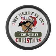 Christmas Soldier Dad/Mom Large Wall Clock