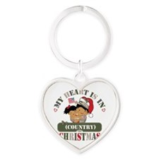 Christmas Soldier Dad/Mom Heart Keychain