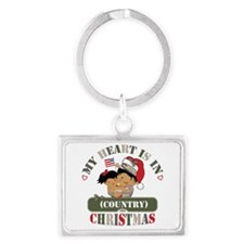 Christmas Soldier Dad/Mom Landscape Keychain