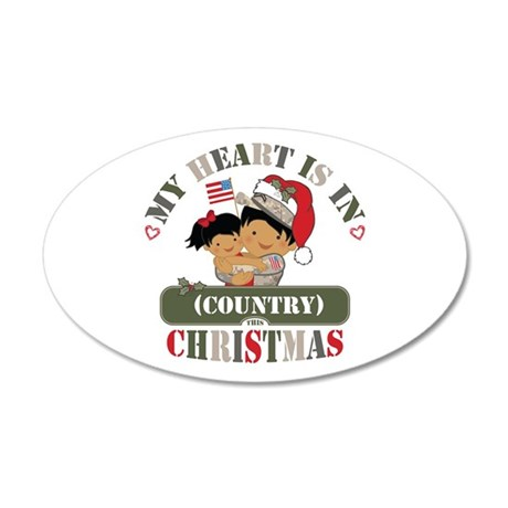 Christmas Soldier Dad/Mom 20x12 Oval Wall Decal