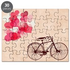 Heart-Shaped Balloons and Bicycle  Puzzle