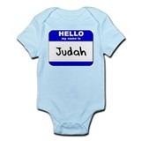 hello my name is judah  Infant Bodysuit