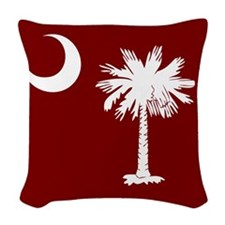 SC Palmetto Moon State Flag Garnet Woven Throw Pil