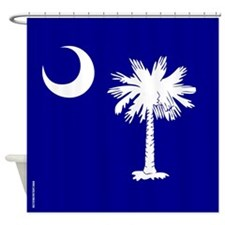 SC Palmetto Moon State Flag Blue Shower Curtain