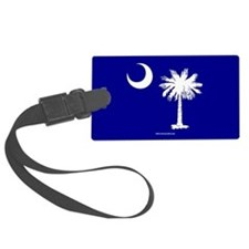 SC Palmetto Moon State Flag Blue Luggage Tag