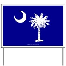 SC Palmetto Moon State Flag Blue Yard Sign