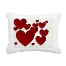 Red Three Dimensional He Rectangular Canvas Pillow