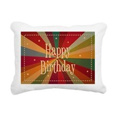 Retro Colorful Sunbeam - Rectangular Canvas Pillow