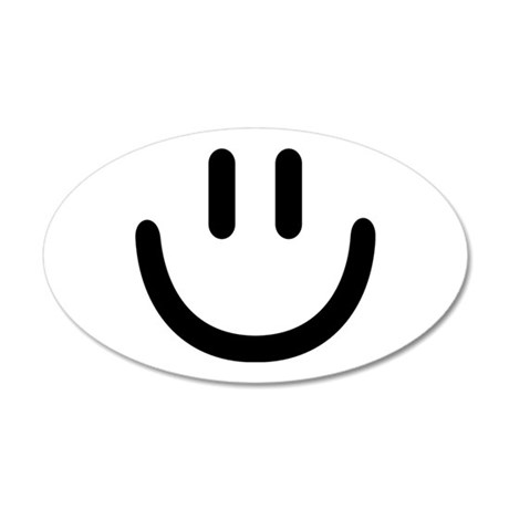 Smiley face 20x12 Oval Wall Decal