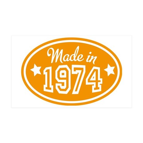 made in 1974 35x21 Wall Decal