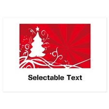 red chritmas selectable text Invitations