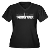 The Bay Area Women's Plus Size V-Neck Dark T-Shirt