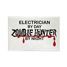 Zombie Hunter - Electrician Rectangle Magnet (100