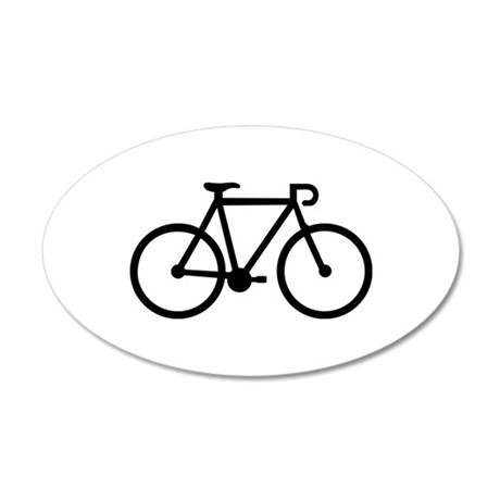 Bicycle bike 20x12 Oval Wall Decal