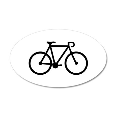 Bicycle bike 35x21 Oval Wall Decal