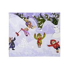 Sloth Snow Day Throw Blanket