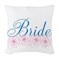 Bride Roses Woven Throw Pillow